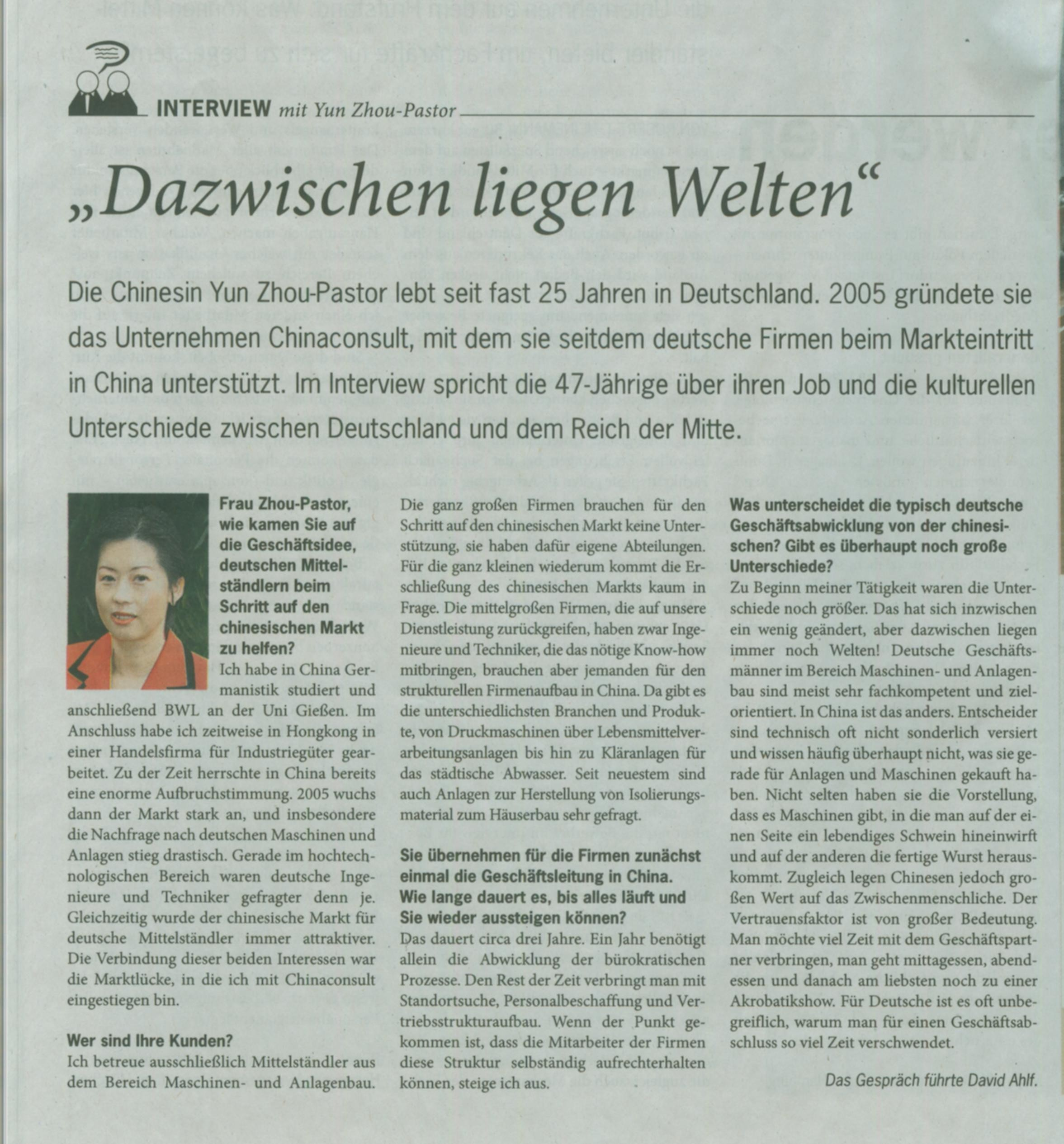 unterschiede china deutschland